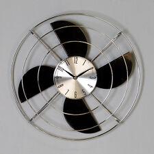 Uhr Ventilator Wanduhr Metall silber/schwarz Casablanca Wanddekoration Design