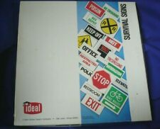 "Vintage 1978 ""Survival Signs"" Card Learning Set No.6059 Ideal School Supply Co"