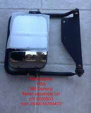 military hmmwv M1114 M998 LH dual view mirror assembly new am general 6039503
