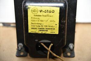 Stancor P-6160 Isolation Transformer 125-115-105 Volts CHICAGO STANDARD USA