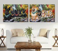 Scenic Waterfall canvas Wall Art Decor, Dogs, Cats, Pet photo canvas