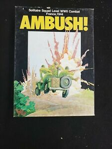 Ambush! Solitaire Squad Level WWII Combat France 1944 Victory Games. Complete!
