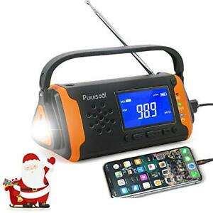Emergency-Radio with NOAA Weather Alert, 4000mah Hand Crank Portable Solar...