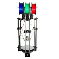 Geeetech Newest Rostock 3-IN-1-OUT mix color 3d printer DIY with 3 extruders