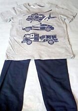 NEW Carter's Boys Rescue Vehicle Graphic Tee and Pant 2 Piece Set Size 6