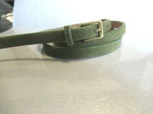 1970s XS skinny green waist belt for women