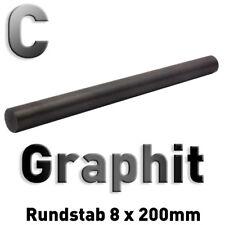 Graphit-Stab-Anode / Elektrode 20 cm x 8 mm Rundstab Graphitelektrode 200 Grafit