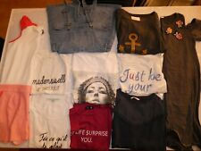 LOT 10 vêtements Haut Top Robe Salopette Tee-shirt Taille XS = 34 FEMME Fille