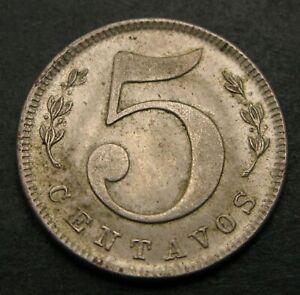 COLOMBIA 5 Centavos 1886 (W) - Copper/Nickel - XF/aUNC - 884