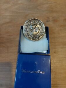 Médaille MONNAIE DE PARIS 68mm Sceau de la Ville de Paris, bronze florentin 2005