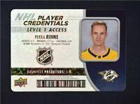 2018-19 18-19 UD Upper Deck Player Credentials Level 1 #NHL-RI Pekka Rinne
