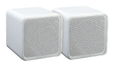 2x altavoces satélites boxeo cubos 80 vatios b405a blanco Cube