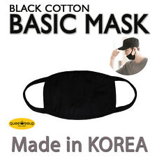 Made in Korea Unisex Kpop Idols BigBang EXO  Basic Black Cotton Face Mouth Mask
