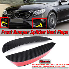 Carbon Fiber Look Front Bumper Canards Vent Flaps For Mercedes-Benz E Class !