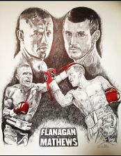 Boxing Terry Flanagan vs Derry Mathews Art Print By Killian Art