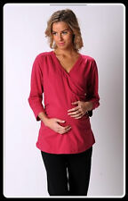 *BRAND NEW* PEA IN A POD MATERNITY LONG SLEEVE CROSSOVER/STRETCH TOP LARGE♫