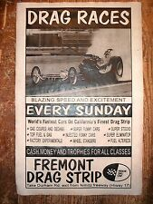 "(541) DRAG STRIP FREMONT HEMI RAIL DRAGSTER GASSER GARAGE RACING POSTER 11""x17"""