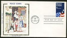 1447 PEACE CORPS FDC VINTAGE COLORANO SILK CACHET FIRST DAY COVER