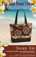 "TUSCANY TOTE Purse Sewing Pattern by Pink Sand Beach Designs 16.5"" W x12""H x4"" D"