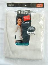 """NIB Men's M 38-40"""" Hanes Ecru ClassicThermal  LS Crew Neck Shirt"""