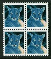 2007 Florida Panther 26c Sc 4137 MNH block of 4 SCARCE ISSUE