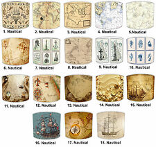 Nautical Compass Maps Lampshades, Ideal To Match Maritime Nautical Wallpaper