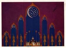 VINTAGE Erte Art Deco stampa 1929 Aladin shéhérazade STADIO Set