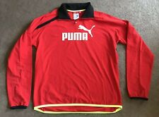 Men's Puma Volvo Ocean Race Red 1/4 Zip Up Pullover Shirt Size XL EUC