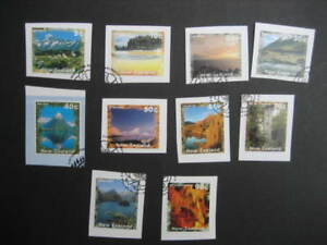 NEW ZEALAND USED SET(on pieces)-1995/6 SCENERY VALUES TO 90c SG 1925/34