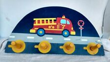 Decorative Coat Rack with Firetruck Theme for a Child. Marked Disney