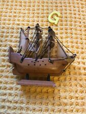 More details for vintage small wooden mary rose ship model