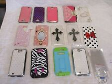Lot of 14 Samsung Galaxy Note 2 Phone Cases Phone Cover 3 Screen Protectors Nice