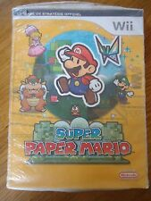 // NEUF GUIDE OFFICIEL *** SUPER PAPER MARIO *** NINTENDO WII