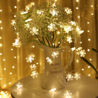 2/3M String Lights Snowflake Xmas Tree Christmas Party Home Warm Lamp Decor TKL