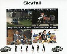 More details for chad james bond stamps 2020 mnh skyfall daniel craig motorcycles 4v impf m/s