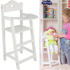 Hochstuhl für Puppen Holz ca. 28 x 22 x 53 cm Mädchen Kinder Spielzeug NEU & OVP