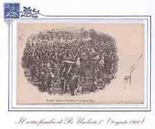 CARTOLINA 1900 IL CORTEO FUNEBRE DI RE UMBERTO I 9 AGOSTO 1900 RIF. 3564