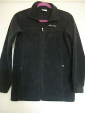 Boys Black Fleece Columbia Jacket/Size L