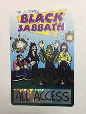 The Unstoppable Black Sabbath Tour '99 All Access Backstage Pass Perri