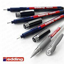 Edding 1800 Profipen Fineliner and 2185 Silver Gel Roller Tangle Drawing Set