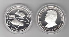 TURKMENISTAN - RARE SILVER PROOF 500 MANAT COIN 1999 YEAR KM#14 JERBOA