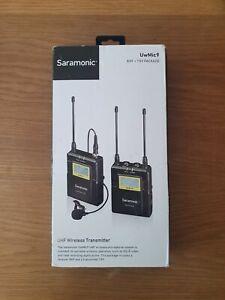 Saramonic UwMic9 Kit 1 TX9, RX9 UHF Wireless Lavalier Microphone Kit 8182BL NEW