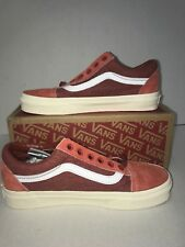 6a19fb0116 NWT NIB Vans Old Skool Washed Red Suede for J.Crew Mens size 5 Skate