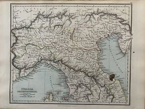 1853 Ancient North Italy Hand Coloured Antique Map by Alexander Findlay