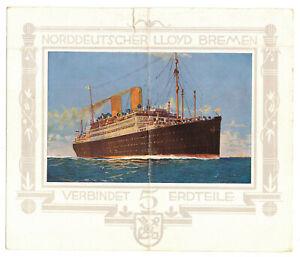Extrait Schiffstagebuch Doppelschrauben Paquebot Dresden 1929 Allemand Du Nord