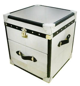 Handmade Designer Bedside cum Side Table 1 Drawer with Storage Trunk