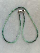 Kette Smaragd facettiert, Verschluß 925 Sterlingsilber (001)