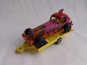 Vintage 1970's Corgi ROCKETS Todd Sweeney Racing Stock Car & Trailer RARE VGC!