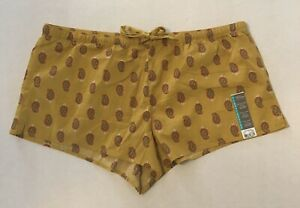 Secret Treasures womens woven sleep shorts boxers size  XL ( 16-18) mustard new