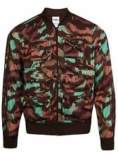 New Mens Adidas Jeremy Scott Fisherman Track Jacket XL Dark Brown Camo AC1903